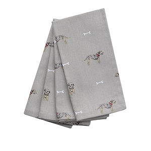 Set Of Four Terrier Napkins - kitchen