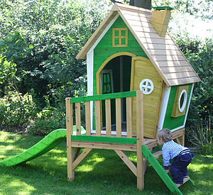Whacky Tower Wooden Playhouse - tents, dens & wigwams