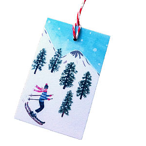 Pack Of 10 Alpine Christmas Gift Tags - cards & wrap