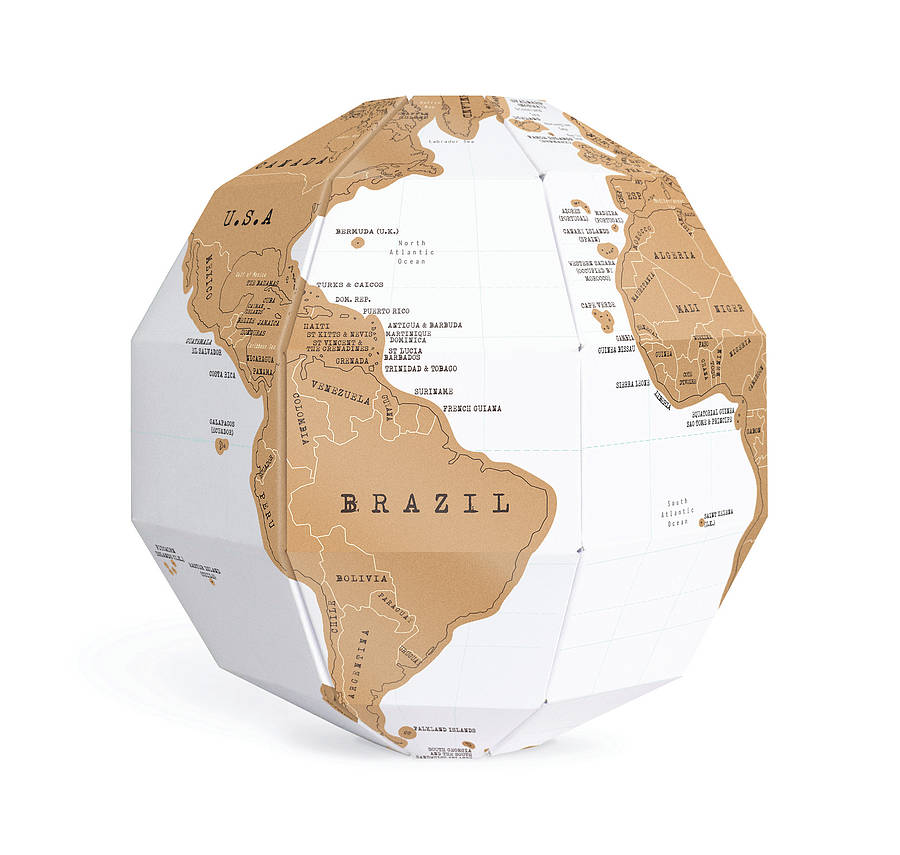 Scratch Map Globe By Luckies Notonthehighstreet Com