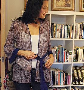 Blue Confetti Kimono Cardigown