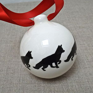 Handmade Fox Christmas Bauble