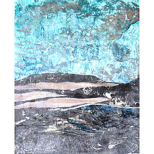 Land Form Number Two Collage On Paper - contemporary art