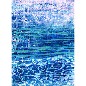 Seascape Series Number 23 Collage - nature & landscape