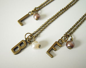 Personalised Initial Necklace - personalised jewellery