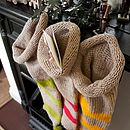 Hand Knitted Stripe Christmas Stocking