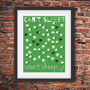 Counting Sheep Print