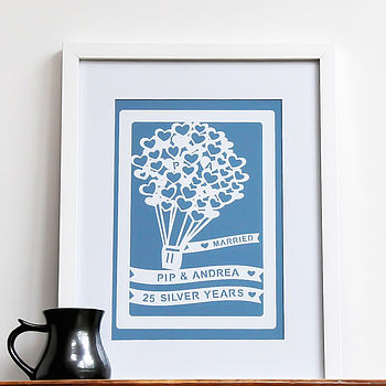 Personalised Anniversary Gift Wall Art Print