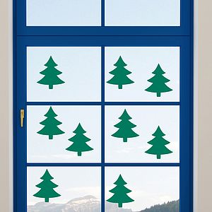 Christmas Tree Window Cling Stickers