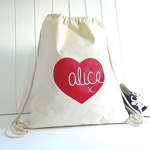 Personalised Heart 'Knitti Kiss' Storage Bag - storage & organisers
