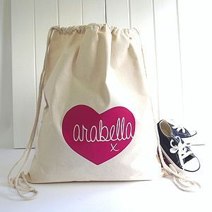 Personalised Heart 'Knitti Kiss' Storage Bag - storage bags