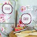 Vintage Roses Personalised Baking Set & Apron