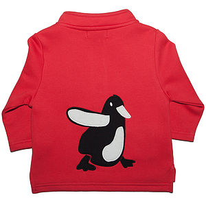 Baby's Organic Toasty Top With Pip Penguin - clothing
