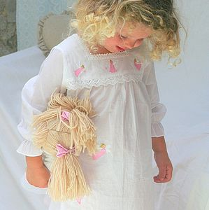 Pink Fairy Embroidered Nightie - clothing