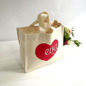 Personalised Heart 'Knitti Kiss' Canvas Tote - bags, purses & wallets