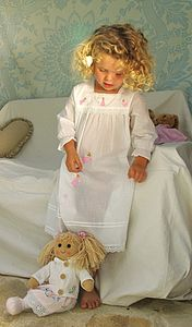 Girl's Fairy Embroidered Nightdress - clothing