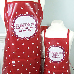 Personalised 'Bakes The Best' Oilcloth Apron - kitchen accessories