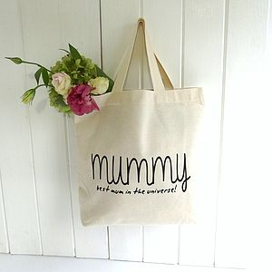 Personalised 'Knitti' Design Cotton Mini Tote - bags & purses
