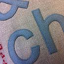 detail of linen fabric