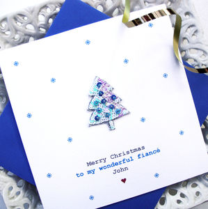 Personalised Blue Christmas Tree Card - view all sale items