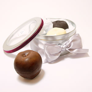 Filled Chocolate Apples In Gift Tin - desserts