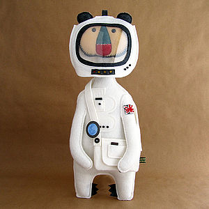 Spaceman Handmade Felt Art Doll - sculptures