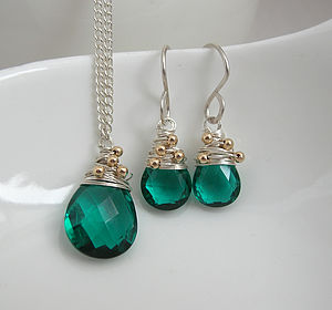 Apatite Quartz Set - earrings