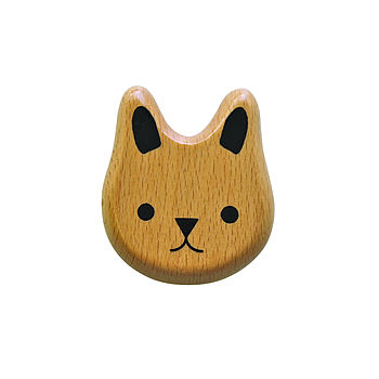 Eco Friendly Wooden Bunny Rattle Teether