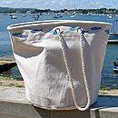 Big 'Fish' Canvas Beach Bag