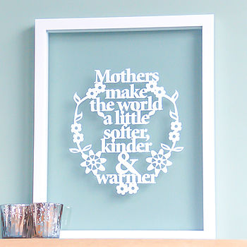 Papercut For Mothers / Grandparents
