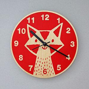 Fox Clock - baby's room