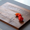 Personalised Solid Wood Chopping Board