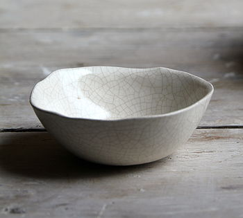 Handmade Porcelain Crackle Bowl