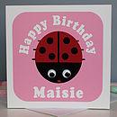 Wobbly Eyed Ladybird Card