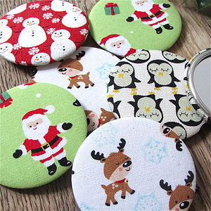 Christmas Fabric Mirrors - beauty & pampering