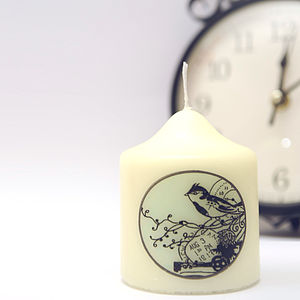 Vintage Style Bird Candle