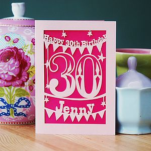 Personalised Birthday Card - special age birthday cards