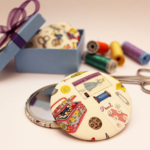 Compact Handbag Sewing Fabric Mirror - mirrors
