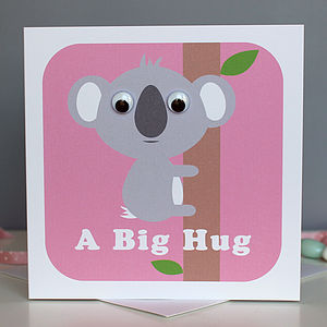 Wobbly Eyed Koala Card - shop by category