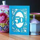 Age Laser Cut Birthday Card