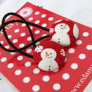 snowman hair bands