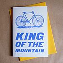 'King Of The Mountain' Racer Bicycle Card