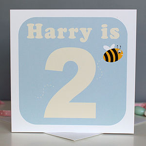 Personalised Animal And Age Birthday Card