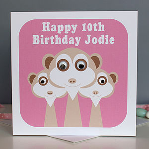 Wobbly Eyed Meerkat Card