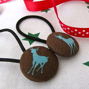Christmas Deer Hair Bands Stocking Fillers