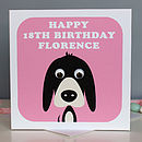 Personalised Wobbly Eyed Animal Cards
