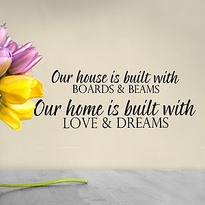 'Our House Our Home' Wall Sticker - wall stickers