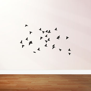 Birds Flying Flock Wall Stickers