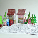 Cut Out And Colour In Village