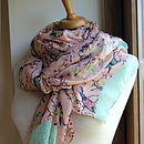 Blush Bird Print Scarf